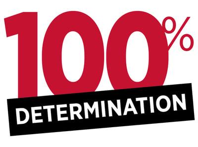 100% DETERMINATION