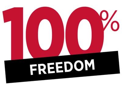 100% FREEDOM